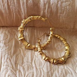 Goldtone Hook Earrings